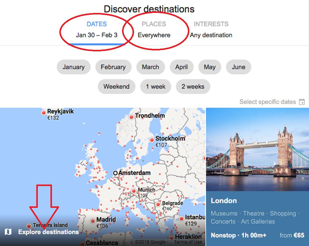 google vluchten scoor goedkope tickets