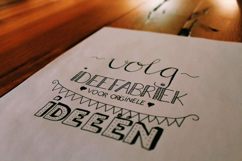 Handletteren handlettering kalligrafie kalligraferen ideefabriek