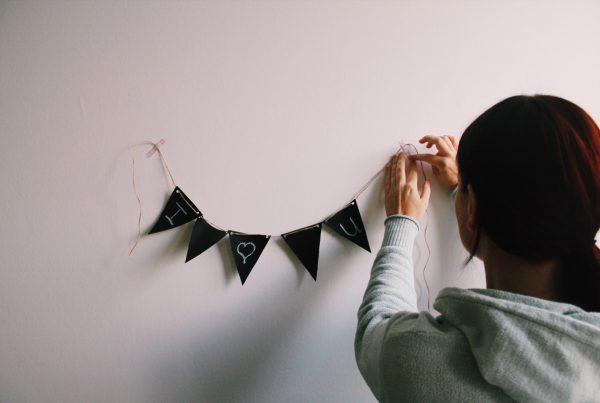 krijtslinger krijtbord slinger vlaggenlijn