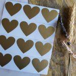 goud krassticker hart