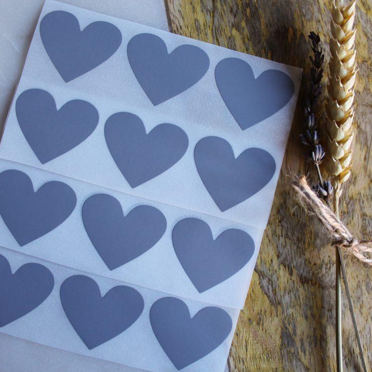 zilver grijs krassticker hart