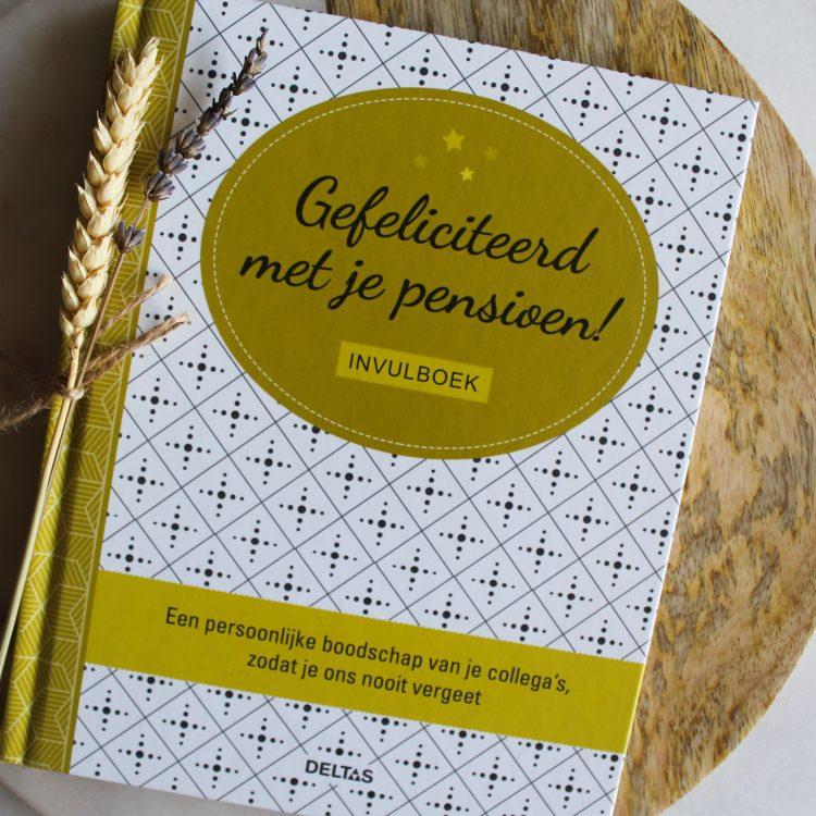 pensioen invulboeken cadeau collega's werk