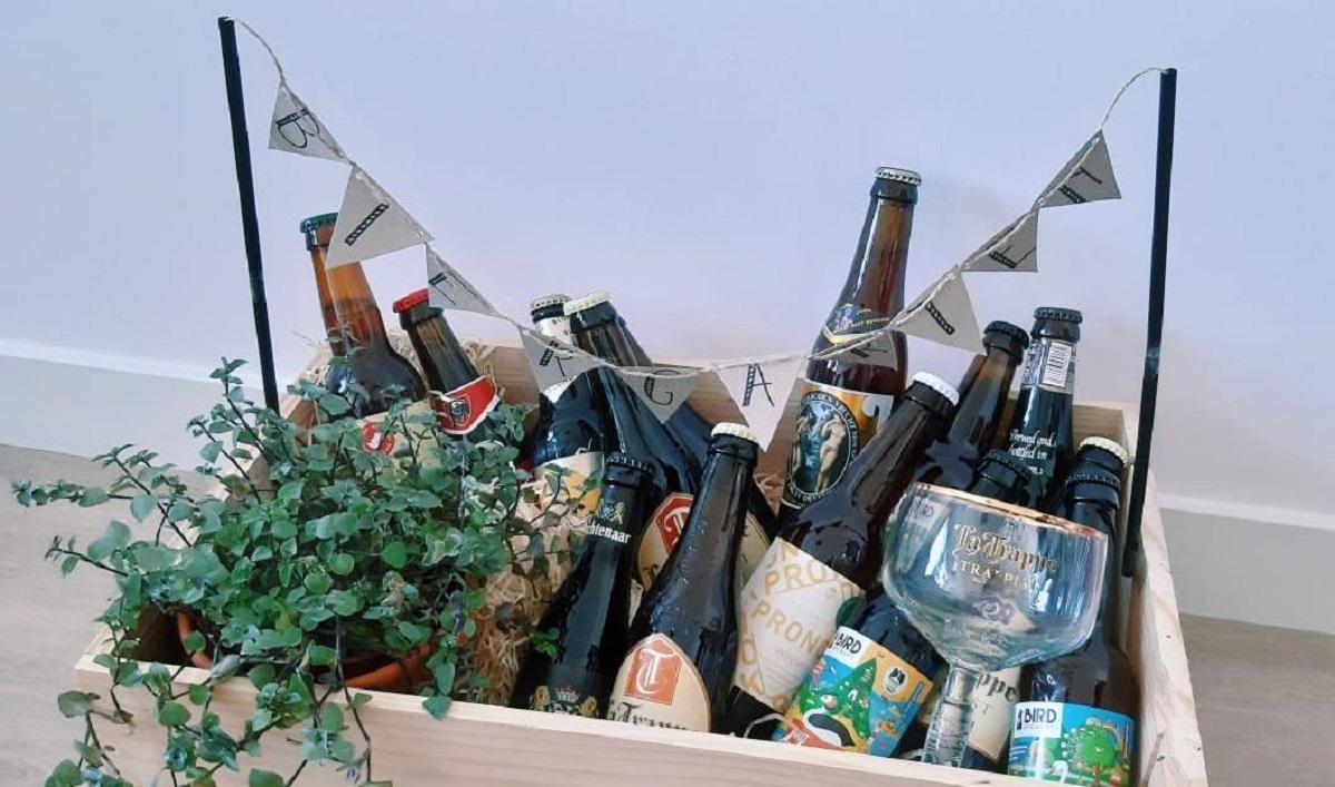cadeau man origineel bierpakket biergarten