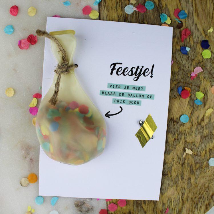 ballonkaart uitnodiging verjaardag feestje ideefabriek