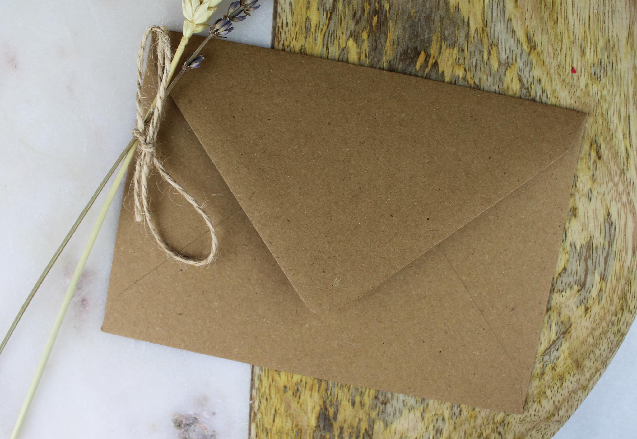 envelop ideefabriek bruin achterkant