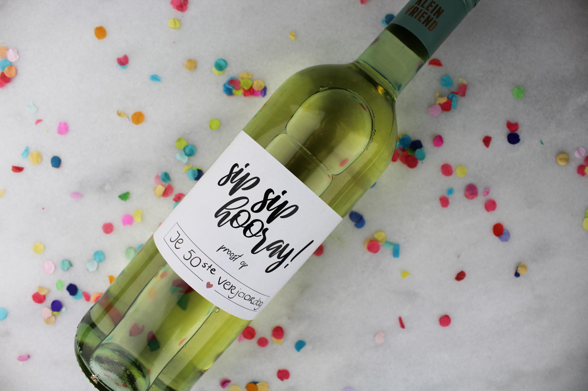 persoonlijk wijn- of bieretiket ideefabriek cadeau