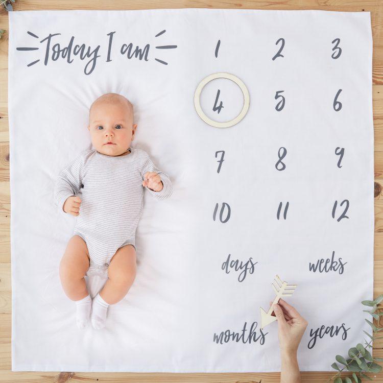 Baby Milestone kleed origineel kraamcadeau ideefabriek
