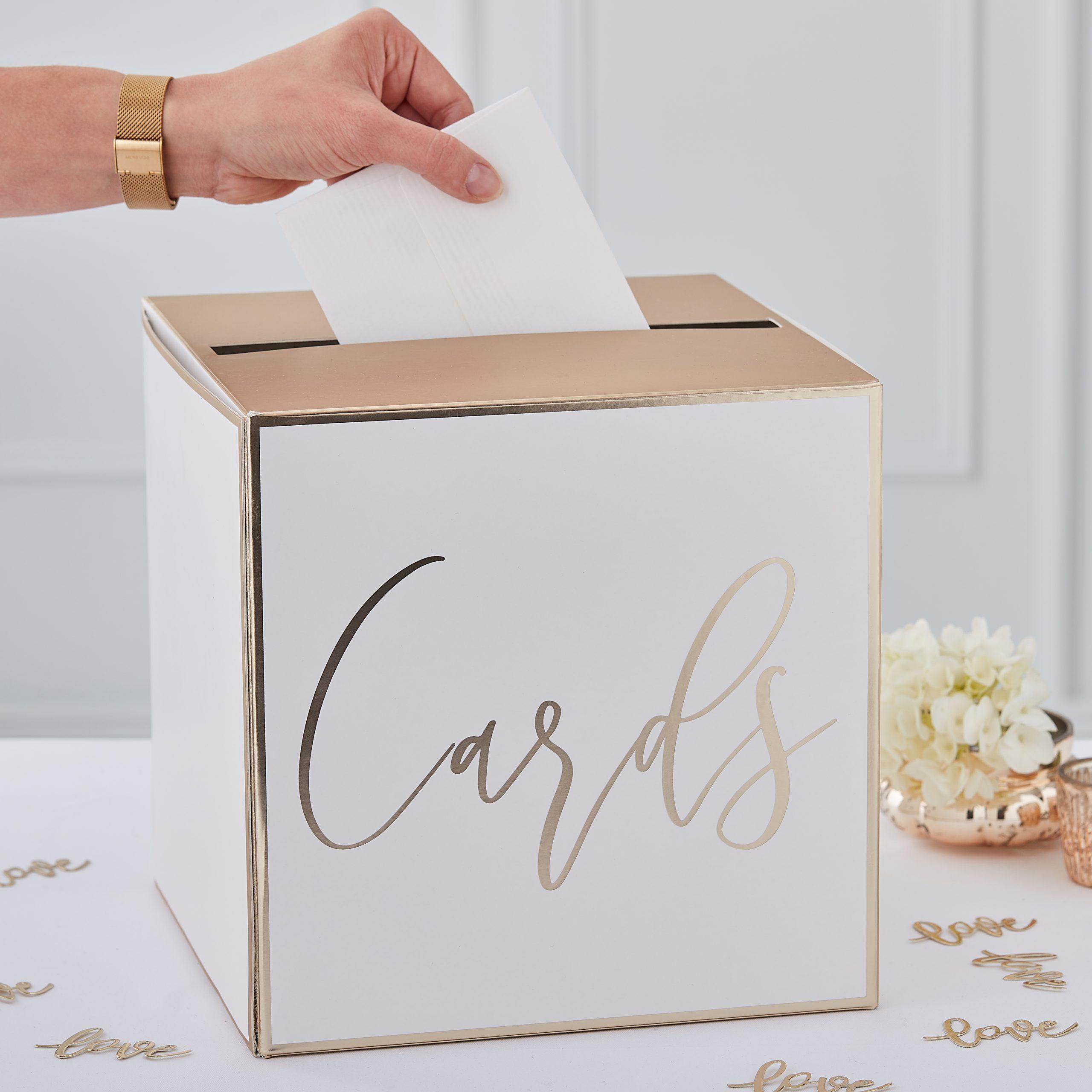 Enveloppendoos bruiloft cards goud ideefabriek karton