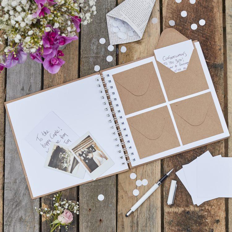 Origineel gastenboek bruiloft met envelopjes ideefabriek 1