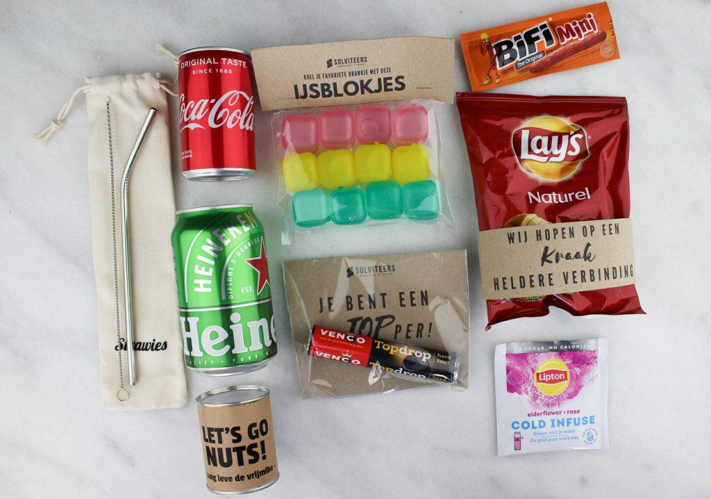 inhoud borrelpakket corona ideefabriek bedrijven