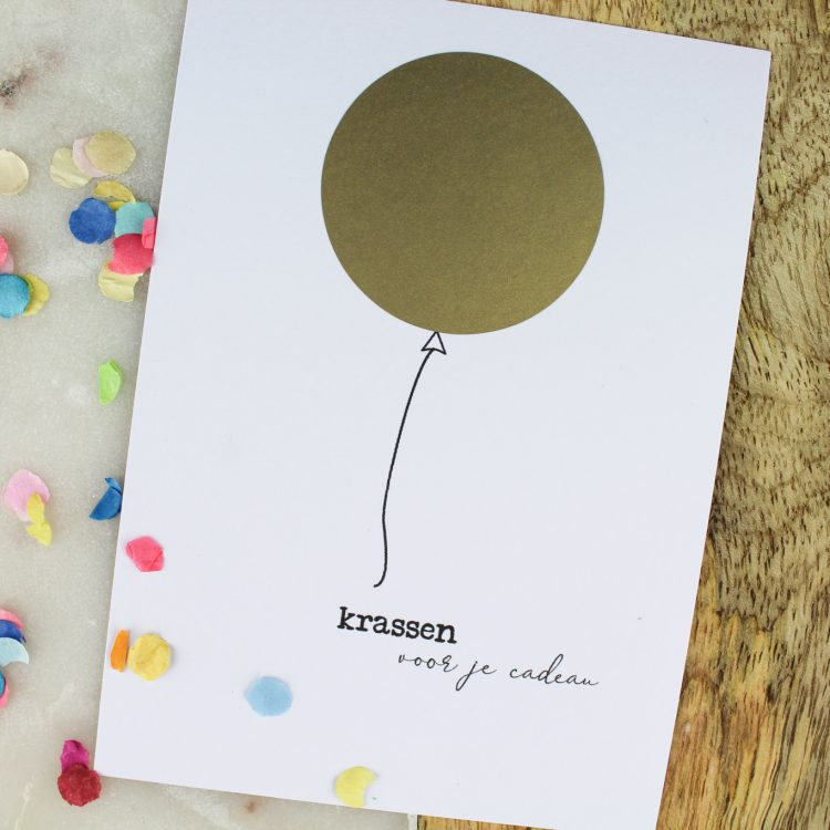 kraskaart ideefabriek cadeau cadeaubon krassen verjaardag
