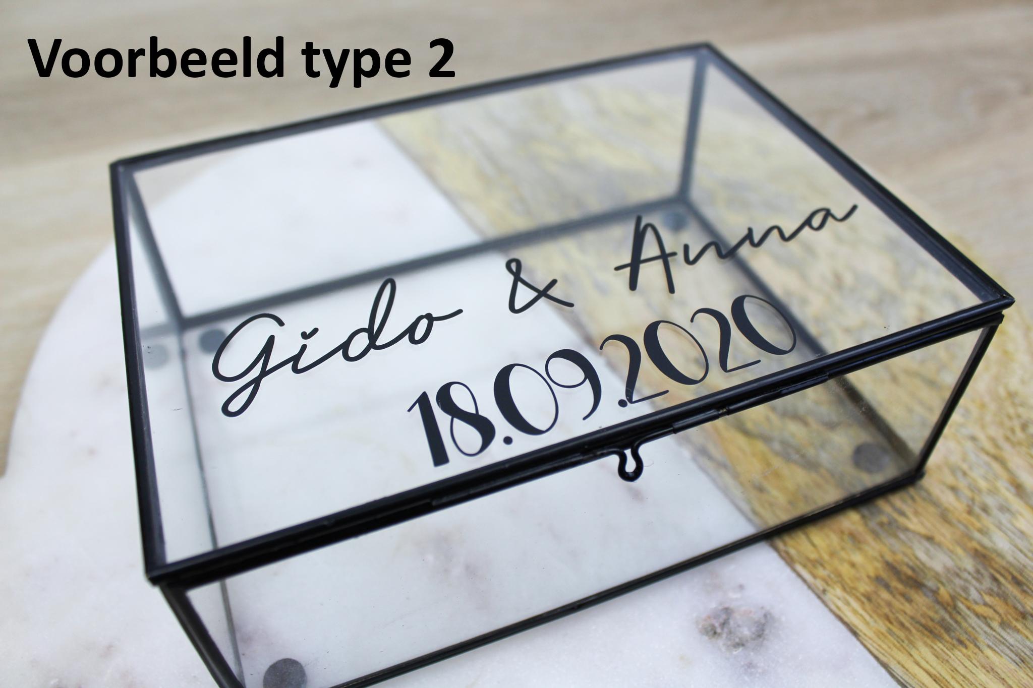 glazen box ideefabriek cadeau voorbeeld van type 5