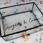 glazen box namen cadeaubox cadeau ideefabriek zwart