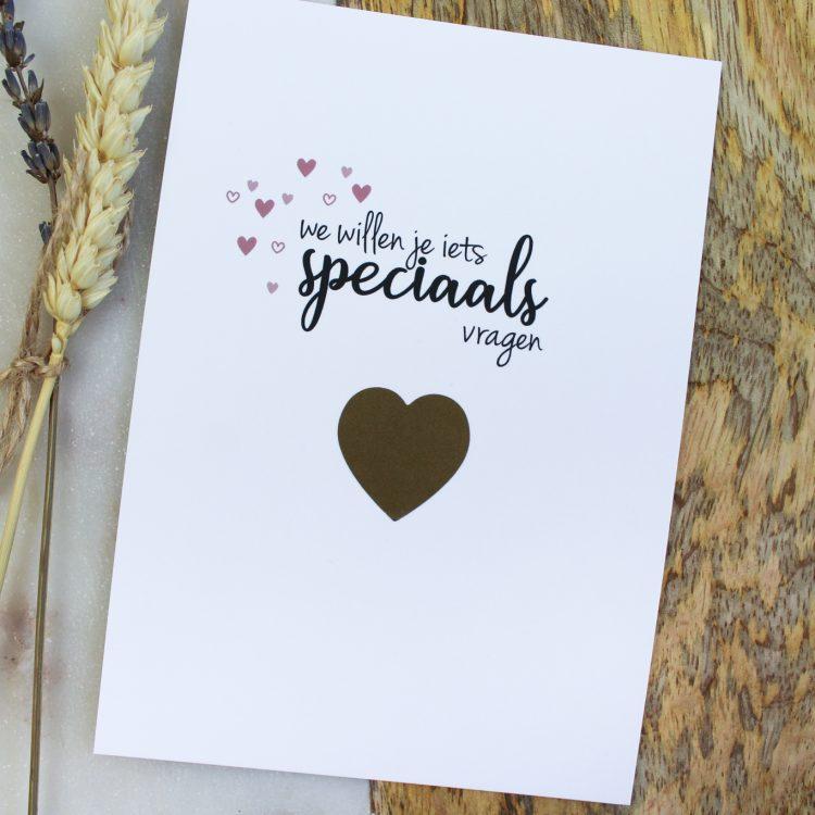 kraskaart ceremoniemeester vragen bruiloft ideefabriek goud