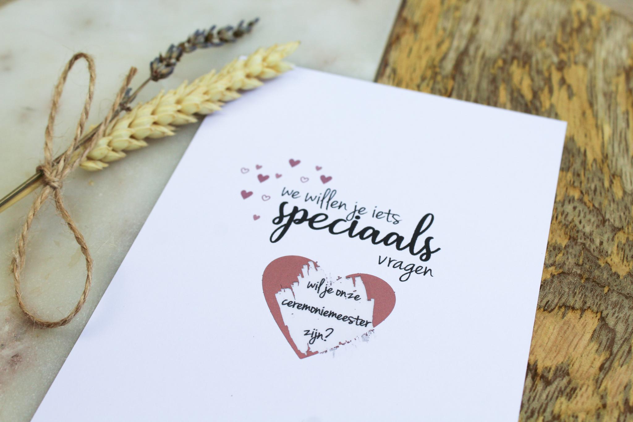 kraskaart ceremoniemeester vragen bruiloft ideefabriek