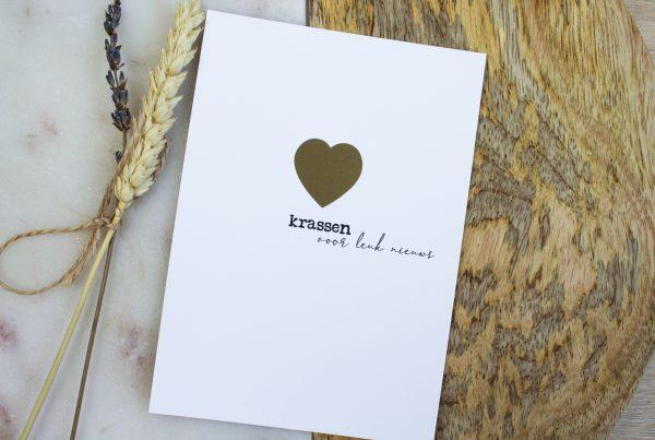 kraskaart zwangerschapsaankondiging zwanger goud ideefabriek kraskaarten