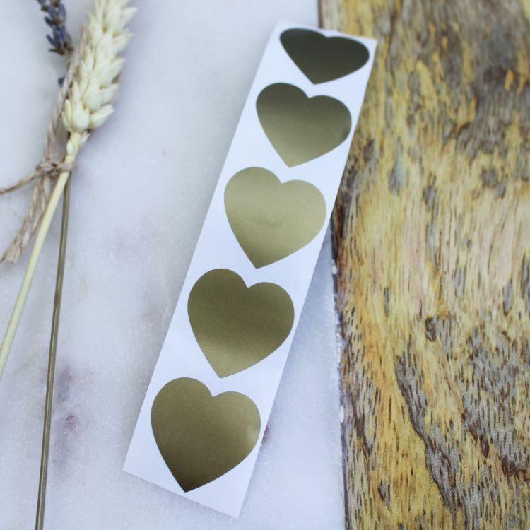 krassticker goud ideefabriek hart