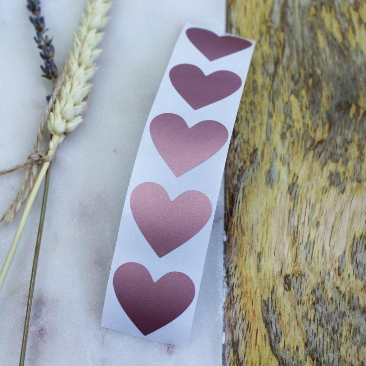 krassticker rosegoud hart ideefabriek