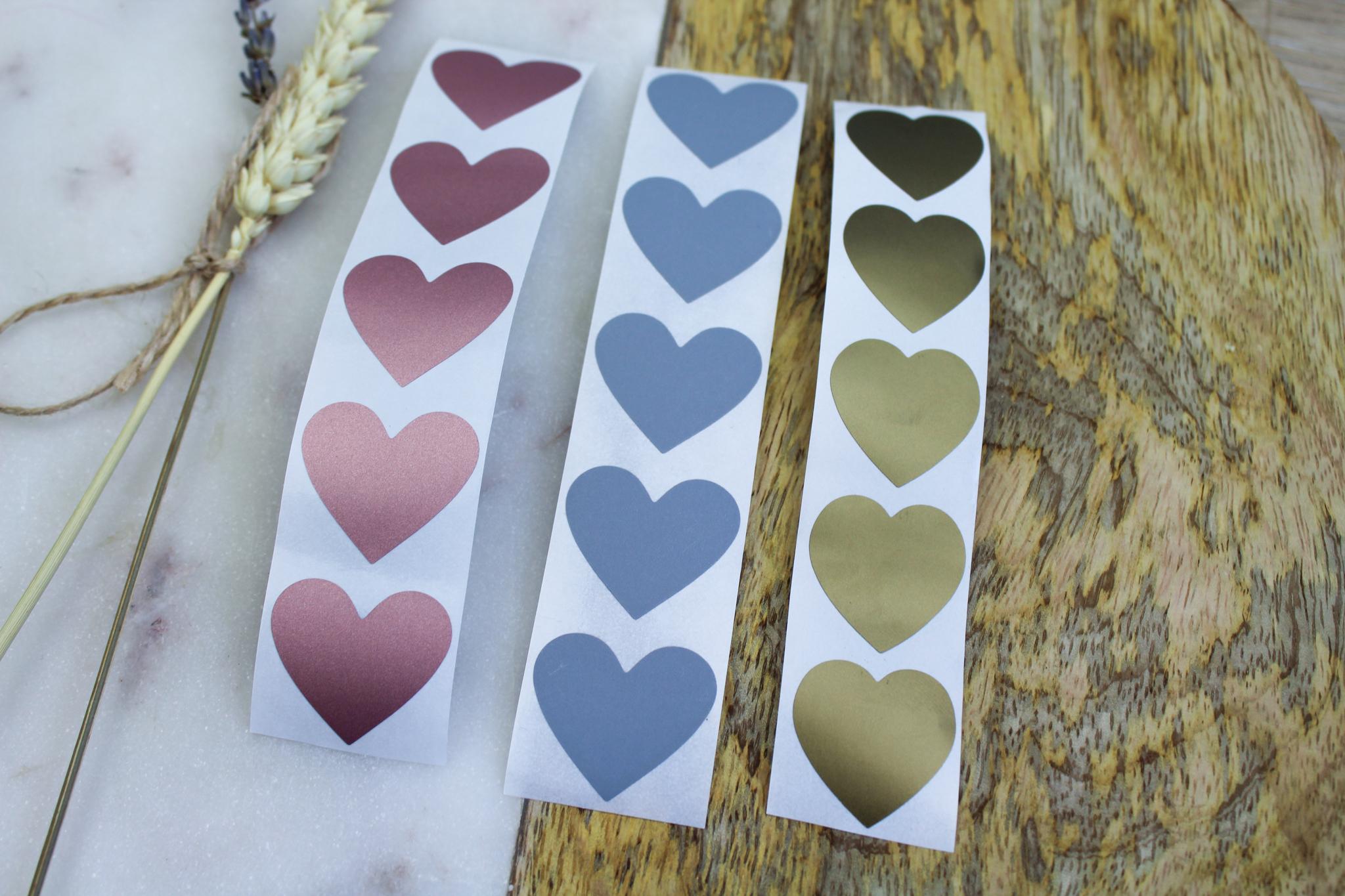 krasstickers goud zilver rosegoud hart hartjes ideefabriek
