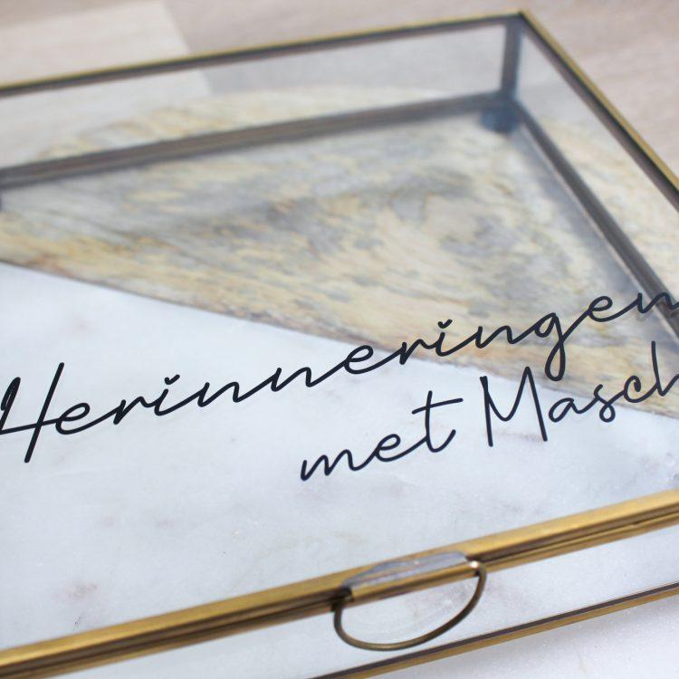 memory box vierkant goud glas herinneringen ideefabriek