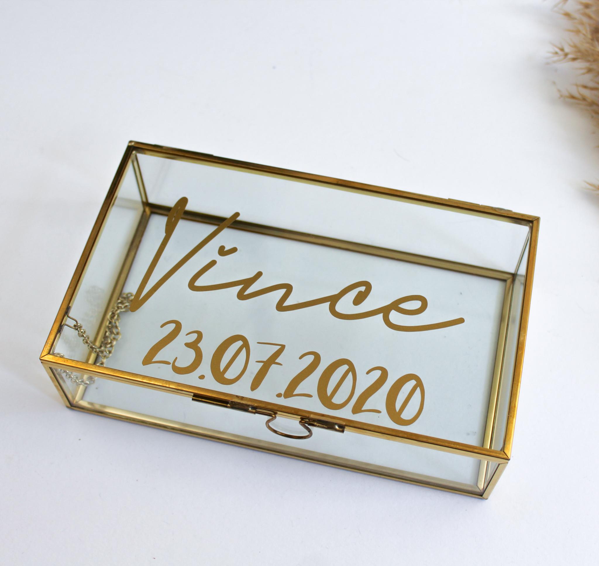 memory box voorbeeld goud messing glazen cadeau ideefabriek