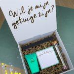 cadeaubox giftbox cadeaupakket getuige getuigen vragen bruiloft ideefabriek getuigenpakket