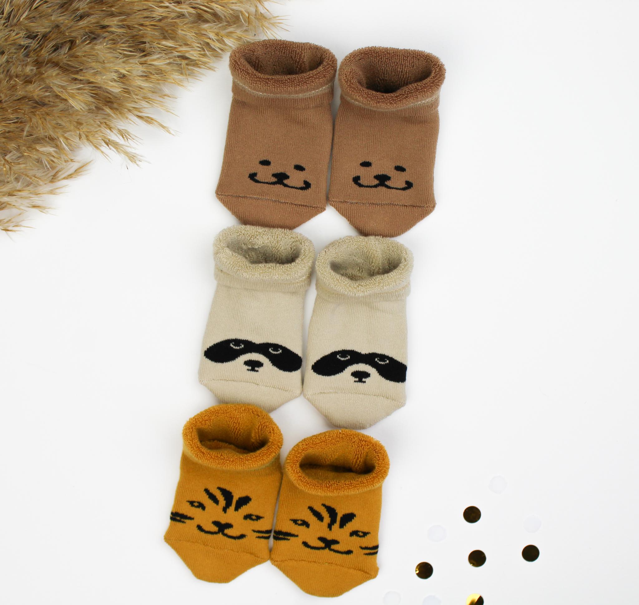 ideefabriek babysokken sokken panda beer tijger