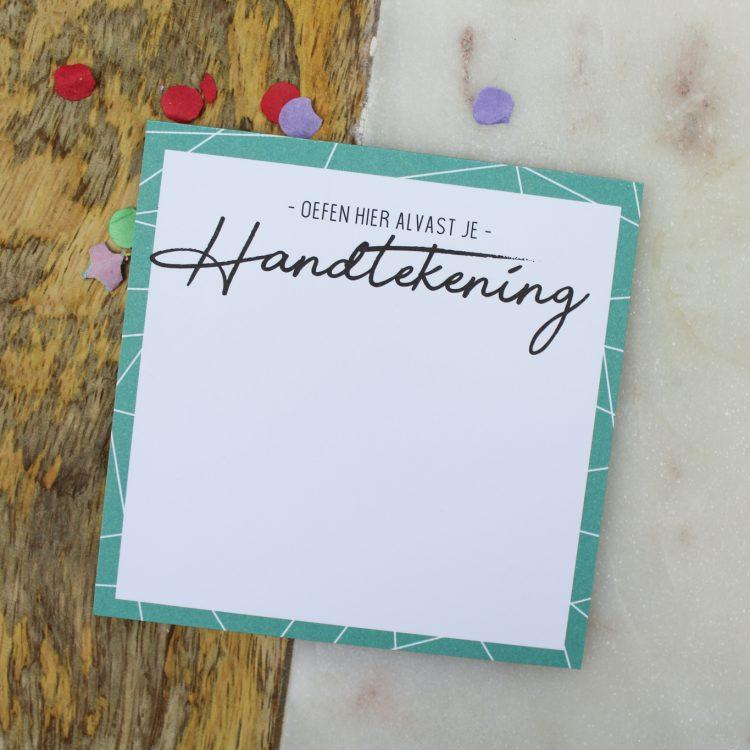 ideefabriek kladblok oefenen met handtekening getuigen bruiloft getuige vragen notitieblok