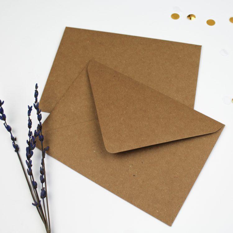 Envelop a5 a6 ideefabriek kraft bruin