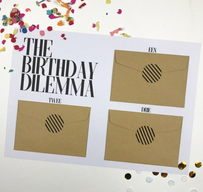 Printable Ideefabriek voorbeeld birthday dilemma cadeau tegoedbonnen diy tegoedbon