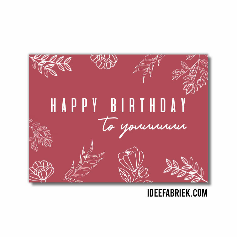 Wenskaart Happy birthday to youuu ideefabriek