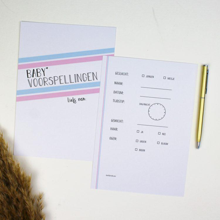 babyshower babyvoorspellingen babyvoorspelling baby ideefabriek