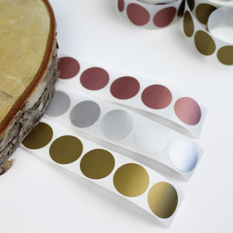 krassticker ideefabriek goud rond krasstickers stickers rosegoud zilver