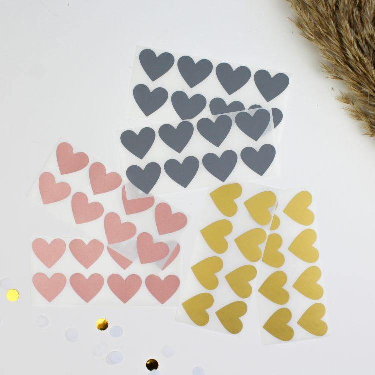 krassticker ideefabriek goud rosegoud zilver hartje hartjes krasstickers