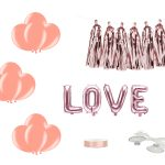 Auto Decoratiepakket Love roségoud ideefabriek