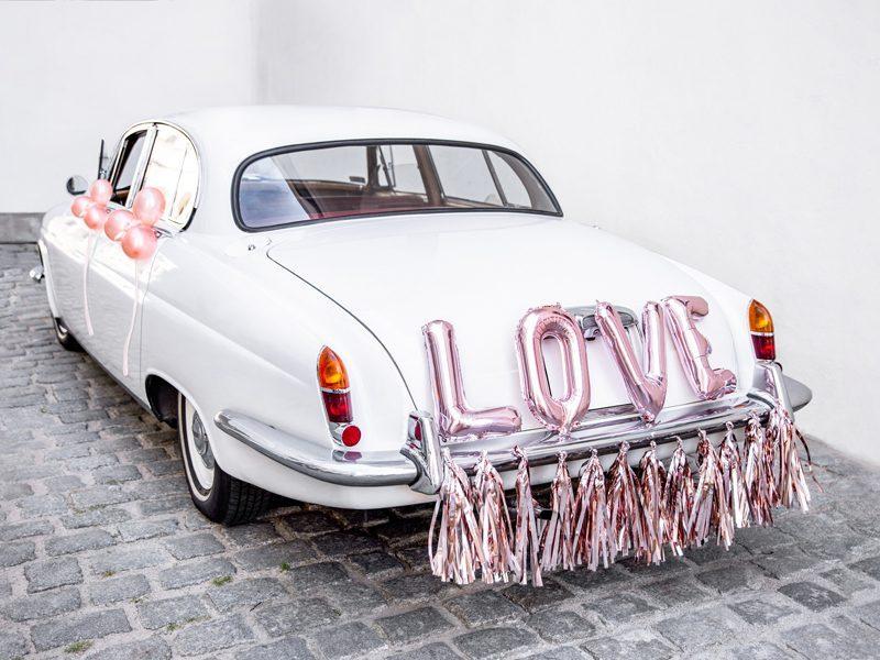 Auto Decoratiepakket Love roségoud