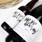 bierlabel wijnlabel etiket wijnetiket bieretiket ideefabriek sip sip hooray cadeau