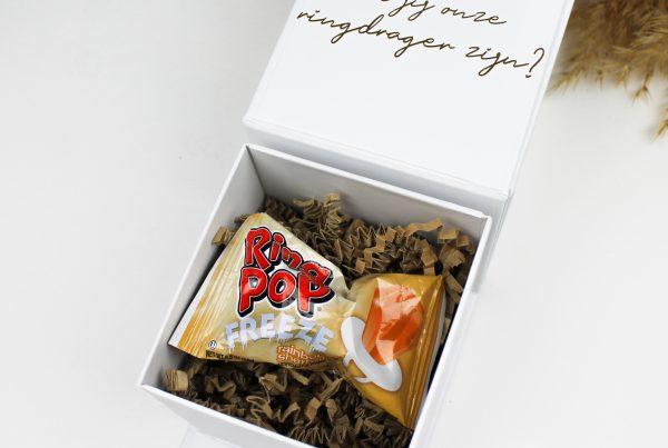 box wil je onze ringdrager zijn bruiloft trouwen ideefabriek ringpop