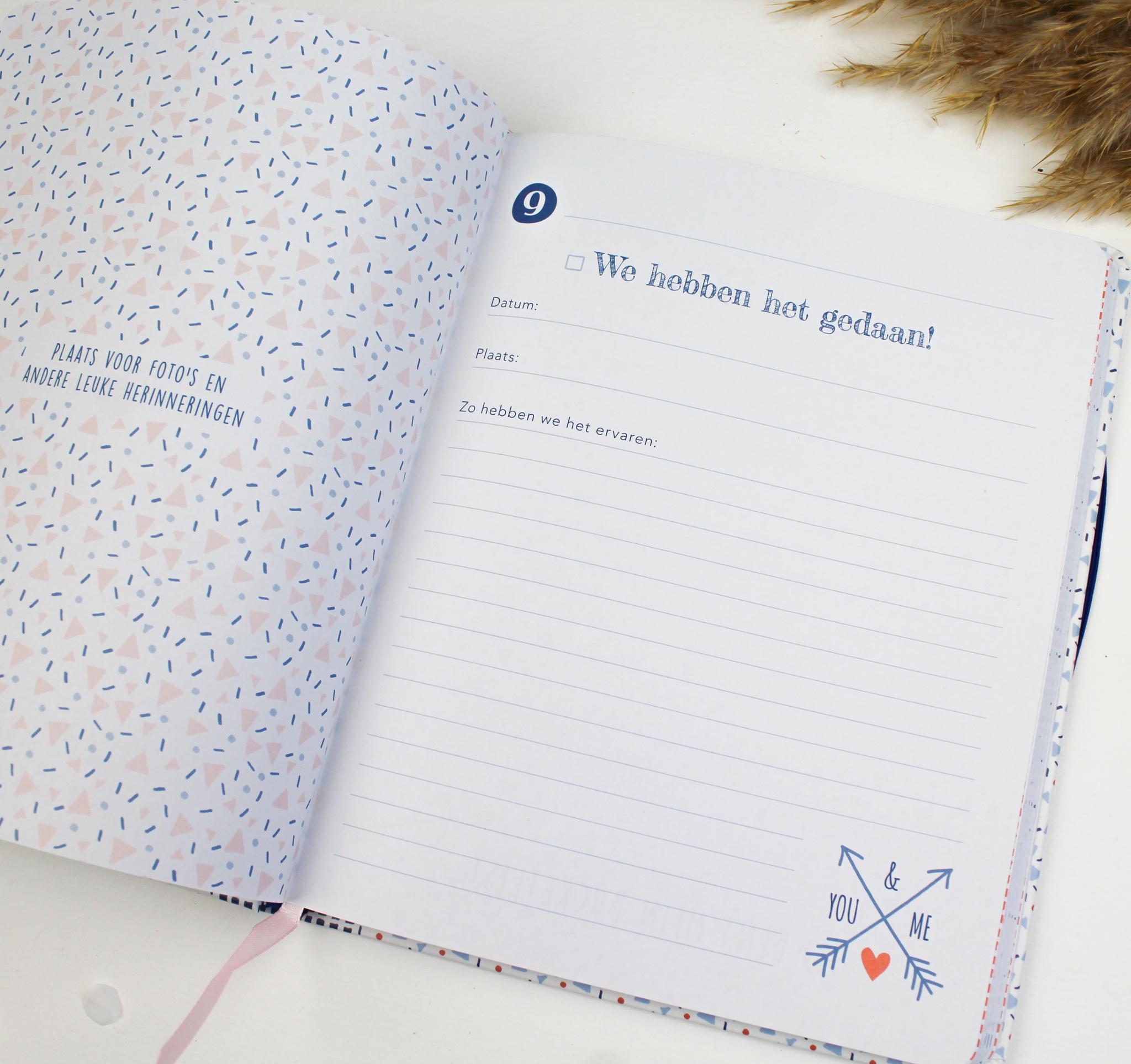 cadeau boek bucketlist voor jou en mij ideefabriek verjaardag