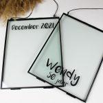 glazen fotolijst ideefabriek zwart fotolijsten cadeau aankondiging gepersonaliseerd