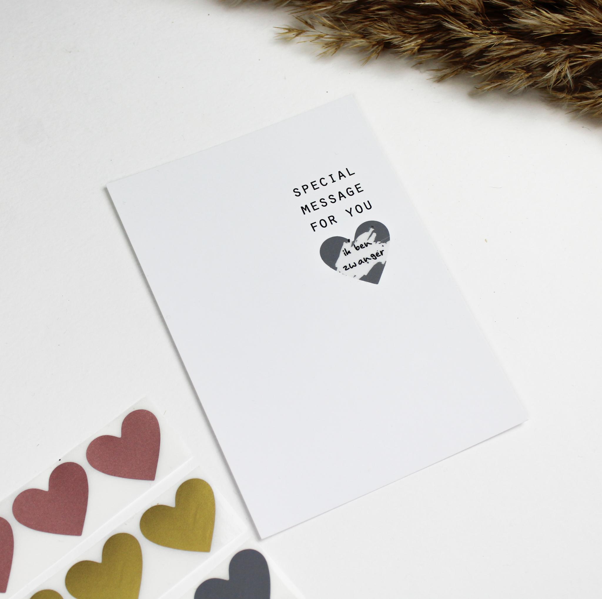 kraskaart kraskaarten ideefabriek zwanger mama to be zwangerschapsaankondiging
