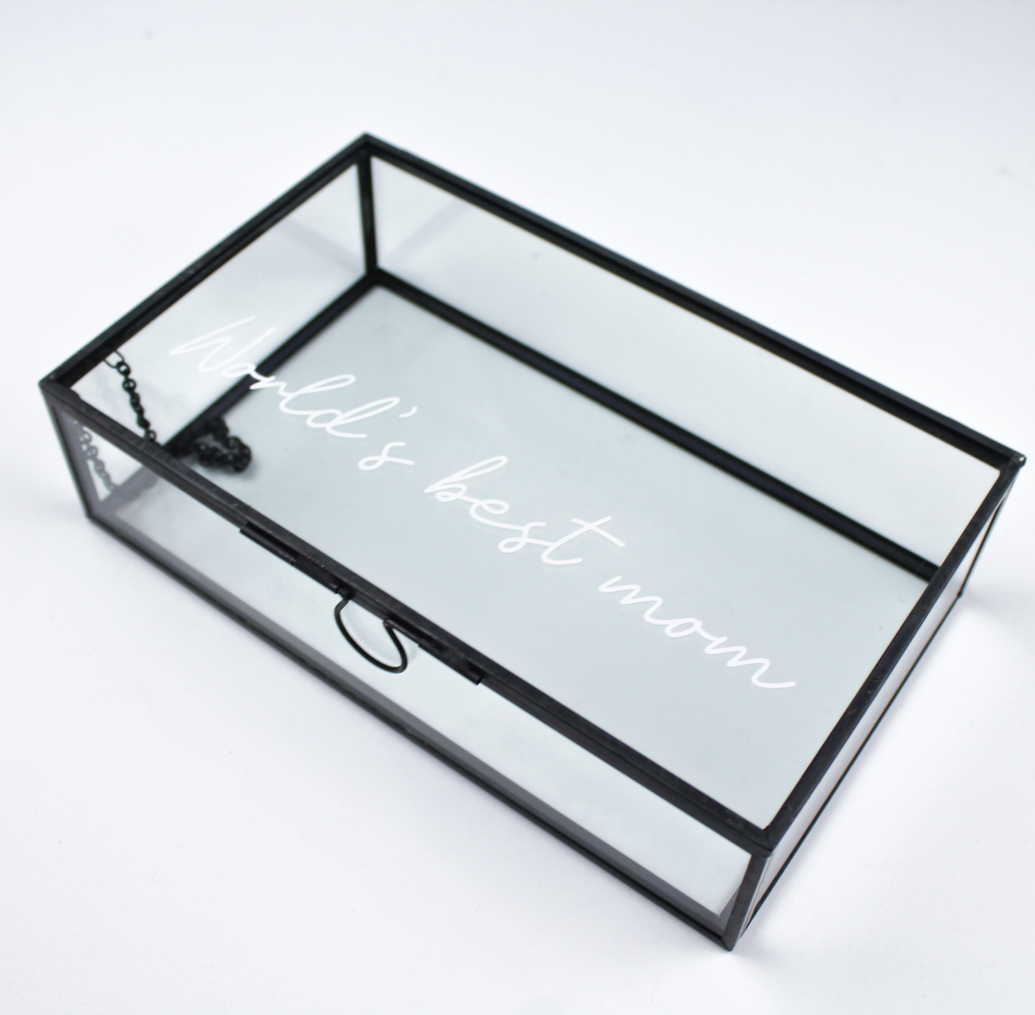 memorybox messing box glazen box bedrukt persoonlijk gepersonaliseerd cadeau ideefabriek