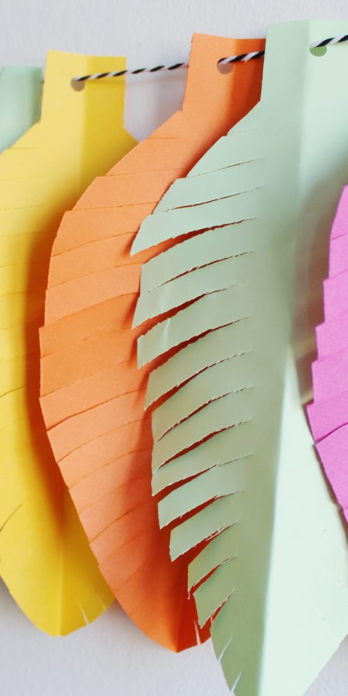 diy papieren veren ideefabriek slinger 5